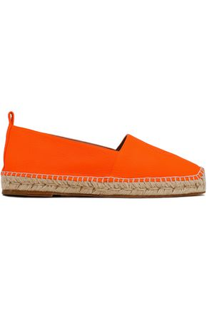ANYA HINDMARCH Perforated leather espadrilles