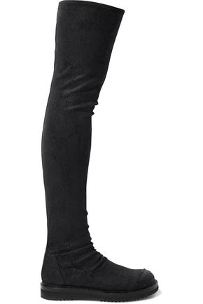 RICK OWENS Stretch-leather thigh boots