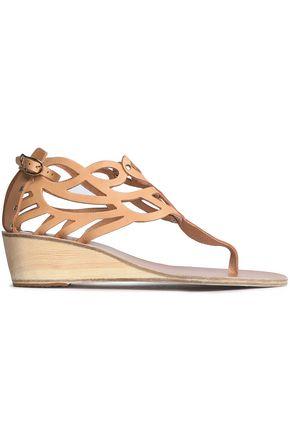 ANCIENT GREEK SANDALS Cutout leather sandals