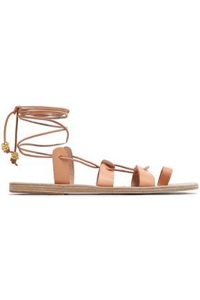 ANCIENT GREEK SANDALS Lace-up leather sandals