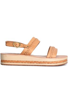 ANCIENT GREEK SANDALS Braided leather platform sandals