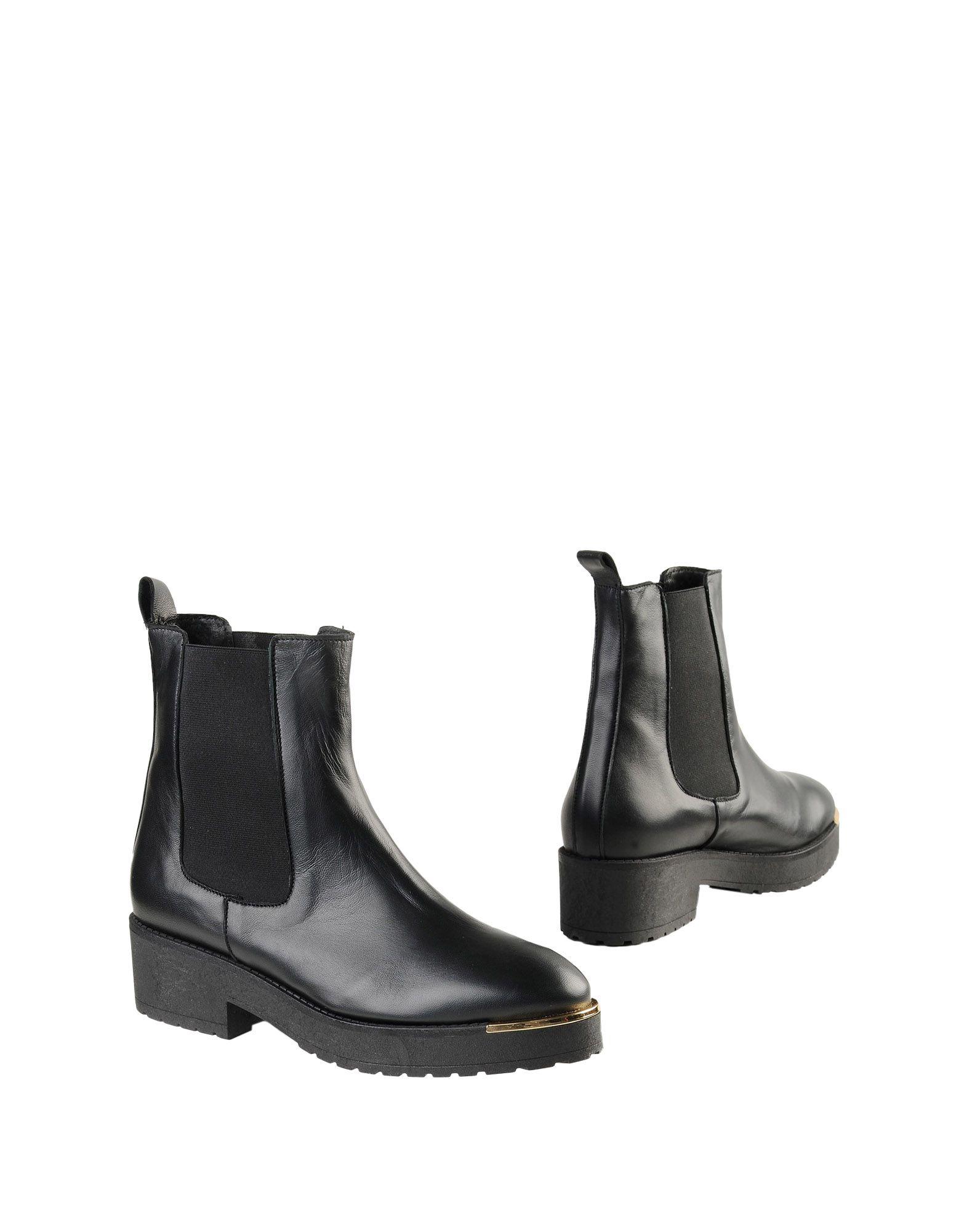 《送料無料》FABRIZIO CHINI レディース ショートブーツ ブラック 35 牛革(カーフ) / 紡績繊維