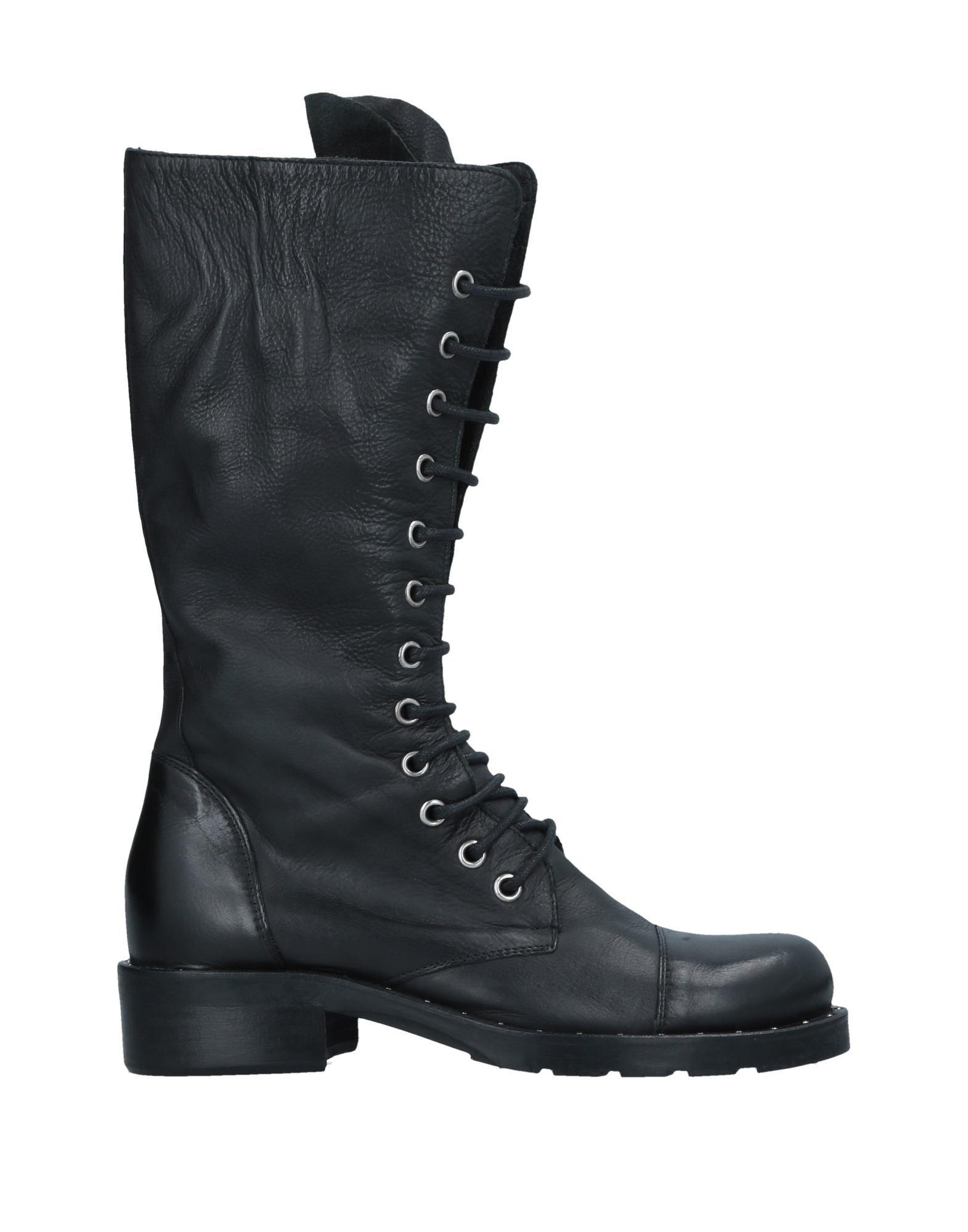 《期間限定 セール開催中》GAIA SHOES レディース ブーツ ブラック 38 革