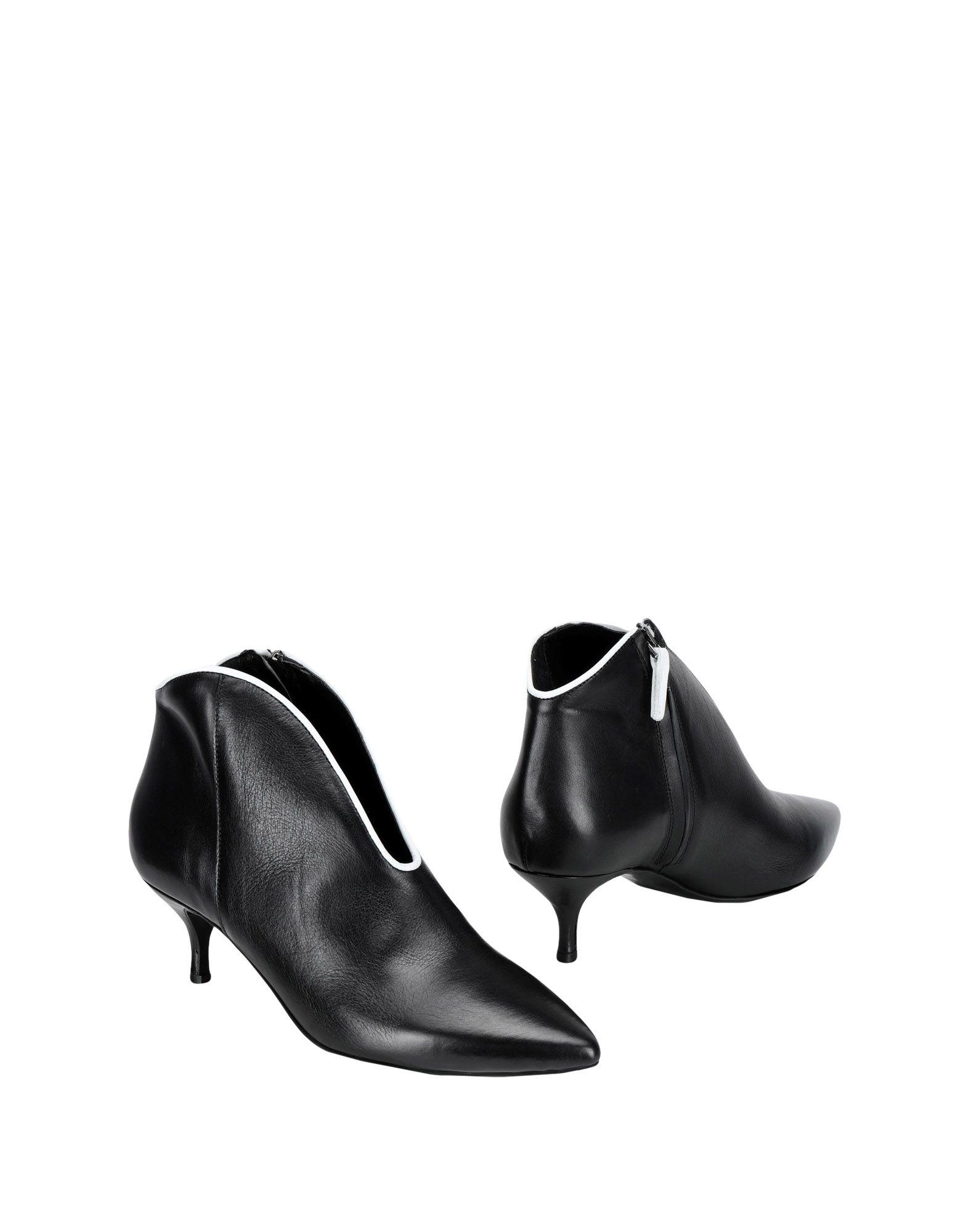 《送料無料》PRIMA EDIZIONE レディース ショートブーツ ブラック 35 牛革(カーフ) 100%