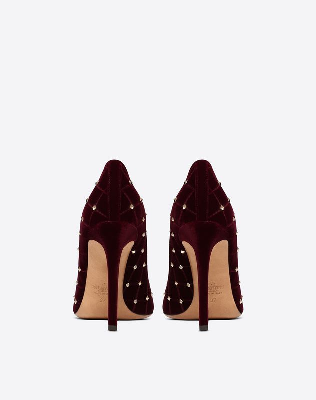 Velvet Rockstud Spike Pump 105mm