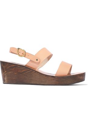 6303e400f4a ANCIENT GREEK SANDALS Clio leather wedge sandals