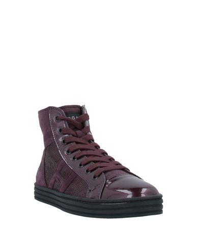 Фото 2 - Высокие кеды и кроссовки от HOGAN REBEL красно-коричневого цвета