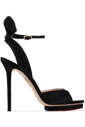 CHARLOTTE OLYMPIA Silk-satin platform sandals