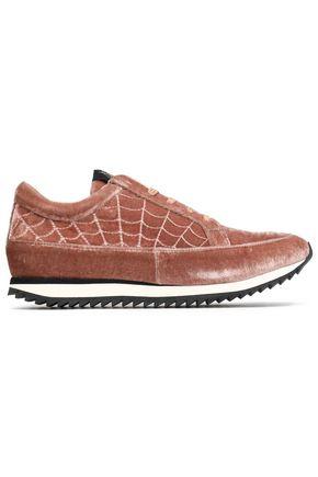 CHARLOTTE OLYMPIA Velvet sneakers
