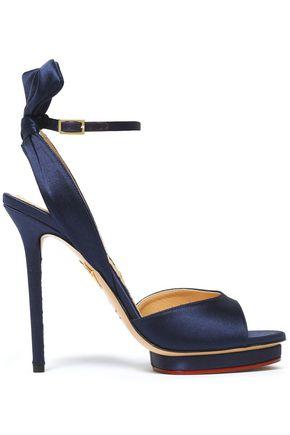 CHARLOTTE OLYMPIA Ruffled satin platform sandals
