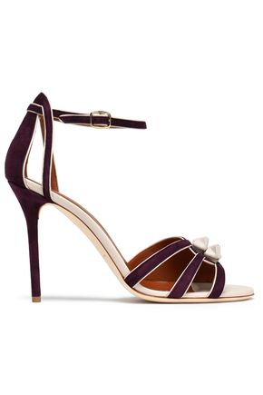 MALONE SOULIERS Knotted leather and suede sandals