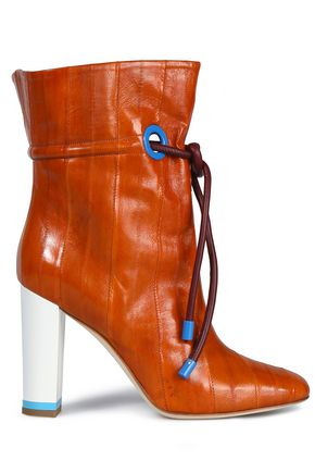 MALONE SOULIERS Glossed-leather ankle boots