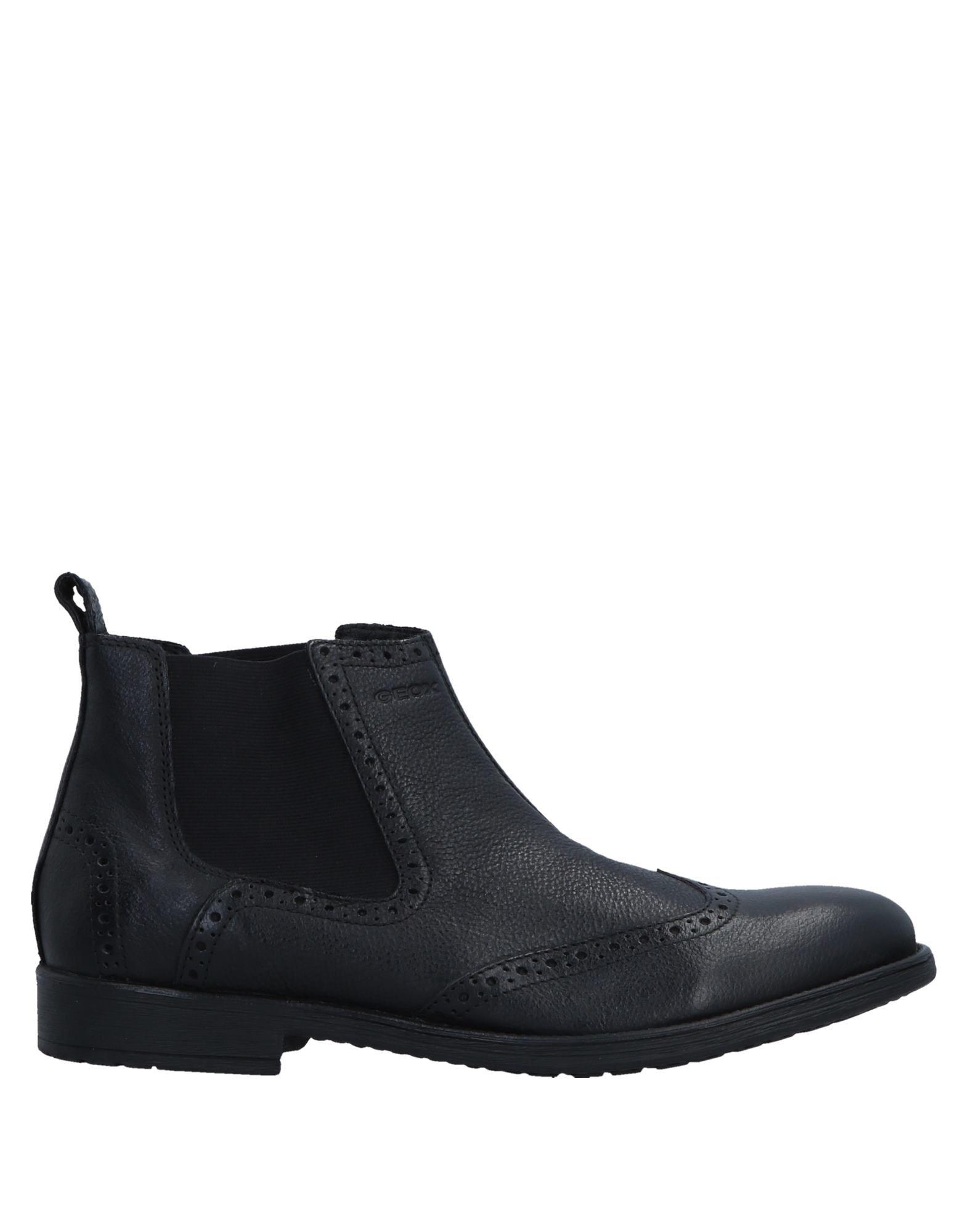 《送料無料》GEOX メンズ ショートブーツ ブラック 45 革 / 伸縮繊維