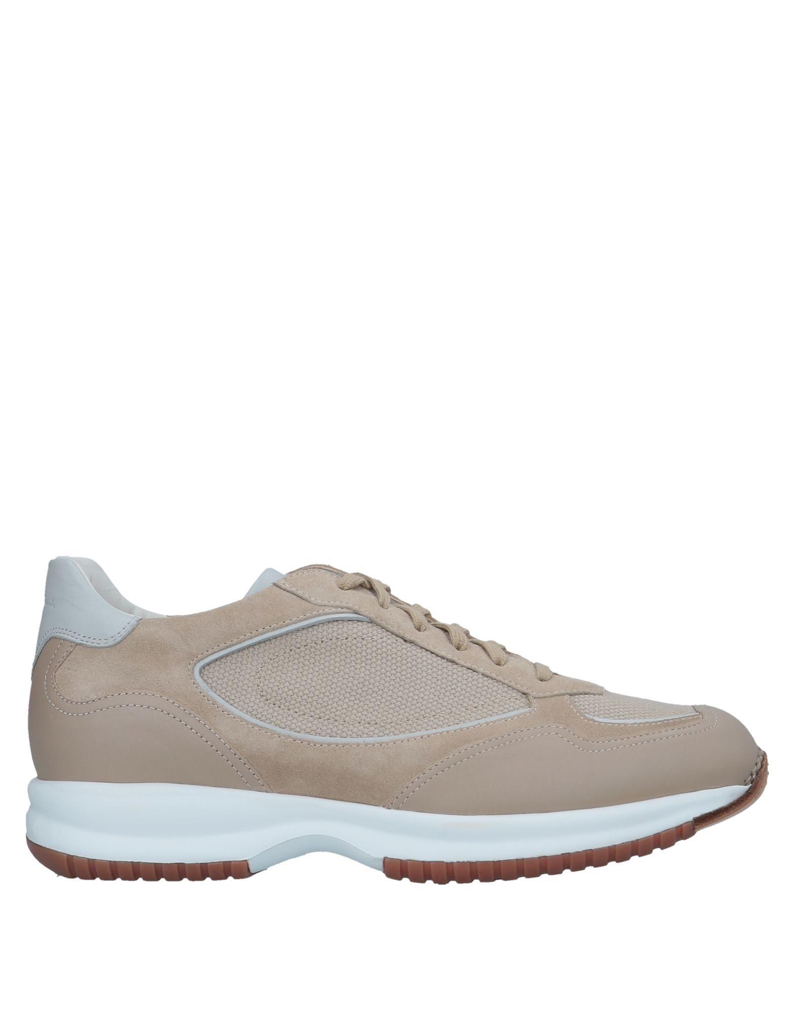 《送料無料》SANTONI メンズ スニーカー&テニスシューズ(ローカット) ベージュ 6 革 / 紡績繊維