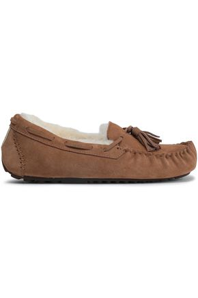 LOVE by LUX Co. Tasseled shearling moccasins