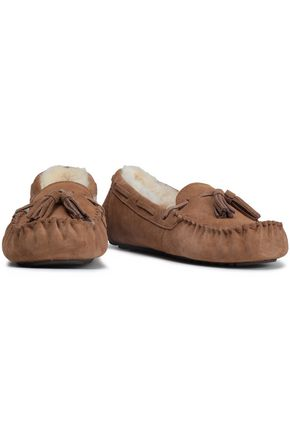 LOVE by LUX Co. Tasseled shearling mocassins