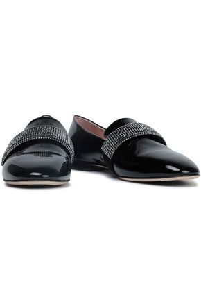 CHRISTOPHER KANE Embellished patent-leather slippers