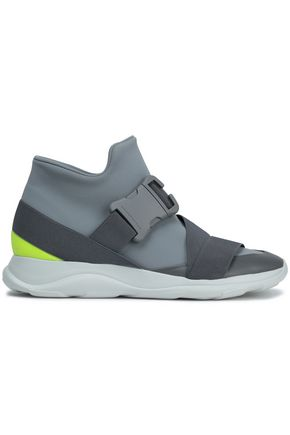 CHRISTOPHER KANE Leather-trimmed neoprene sneakers