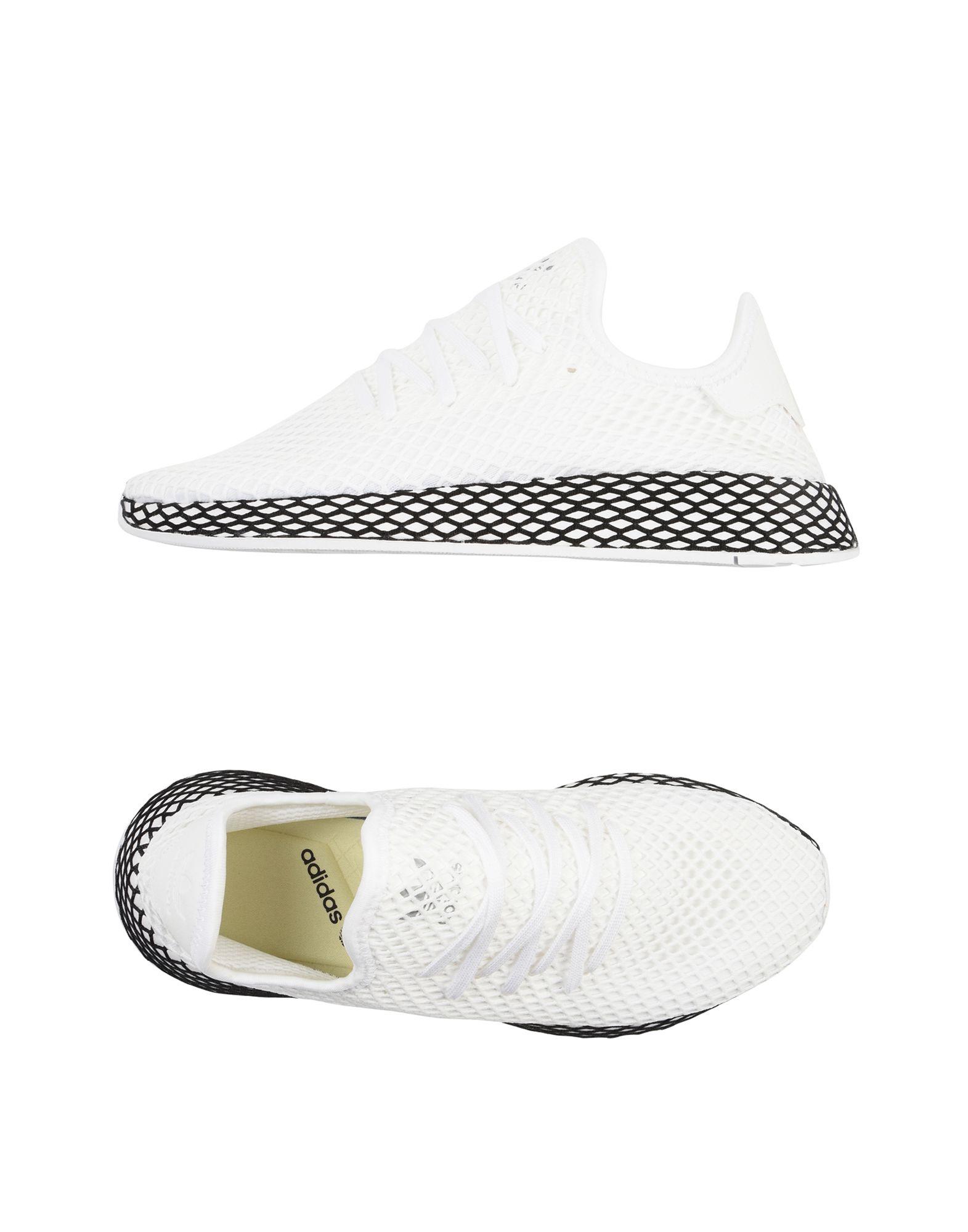 《送料無料》ADIDAS ORIGINALS メンズ スニーカー&テニスシューズ(ローカット) ホワイト 7 紡績繊維 DEERUPT RUNNER