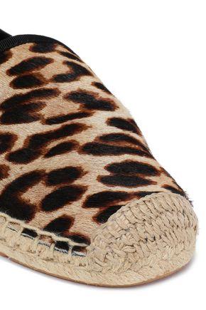 TORY BURCH Leopard-print calf hair espadrilles