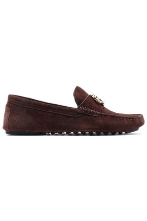 d740b264a19 TORY BURCH Embellished suede loafers