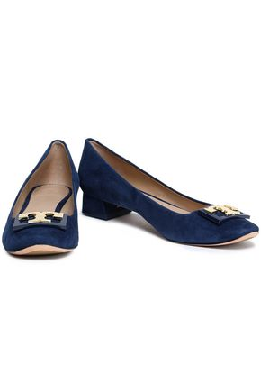 TORY BURCH Embellished suede pumps