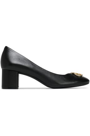 TORY BURCH Embellished leather pumps