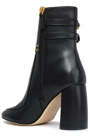 TORY BURCH Studded leather ankle boots