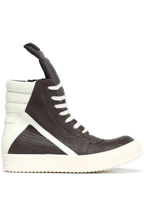 RICK OWENS Textured-leather sneakers