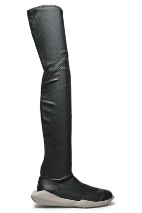 RICK OWENS x ADIDAS Stretch-leather over-the-knee boots