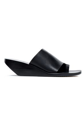 RICK OWENS Cutout leather wedge mules