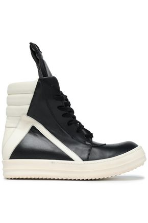 RICK OWENS Two-tone leather sneakers