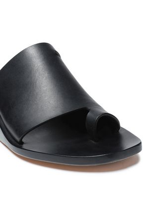 RICK OWENS Leather wedge mules