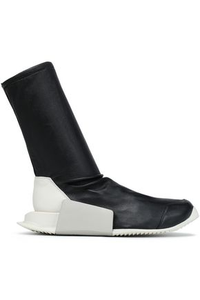 RICK OWENS x ADIDAS Stretch-leather sock boots