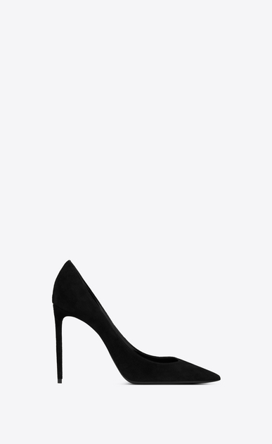 SAINT LAURENT Pumps Woman Zoe 105 pump in black suede   a_V4