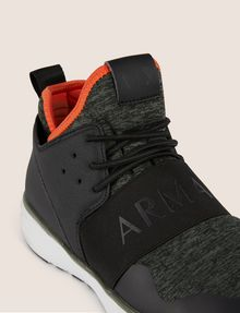 ARMANI EXCHANGE SPORT KNIT ELASTIC HIGH-TOP SNEAKER Sneakers Man a