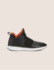 ARMANI EXCHANGE SPORT KNIT ELASTIC HIGH-TOP SNEAKER Sneakers Man f