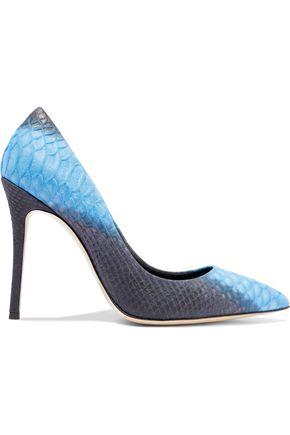 GIUSEPPE ZANOTTI Yvette printed snake-effect leather pumps