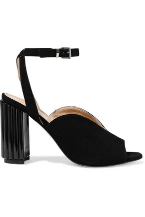 IRIS & INK Dolly suede and Perspex sandals