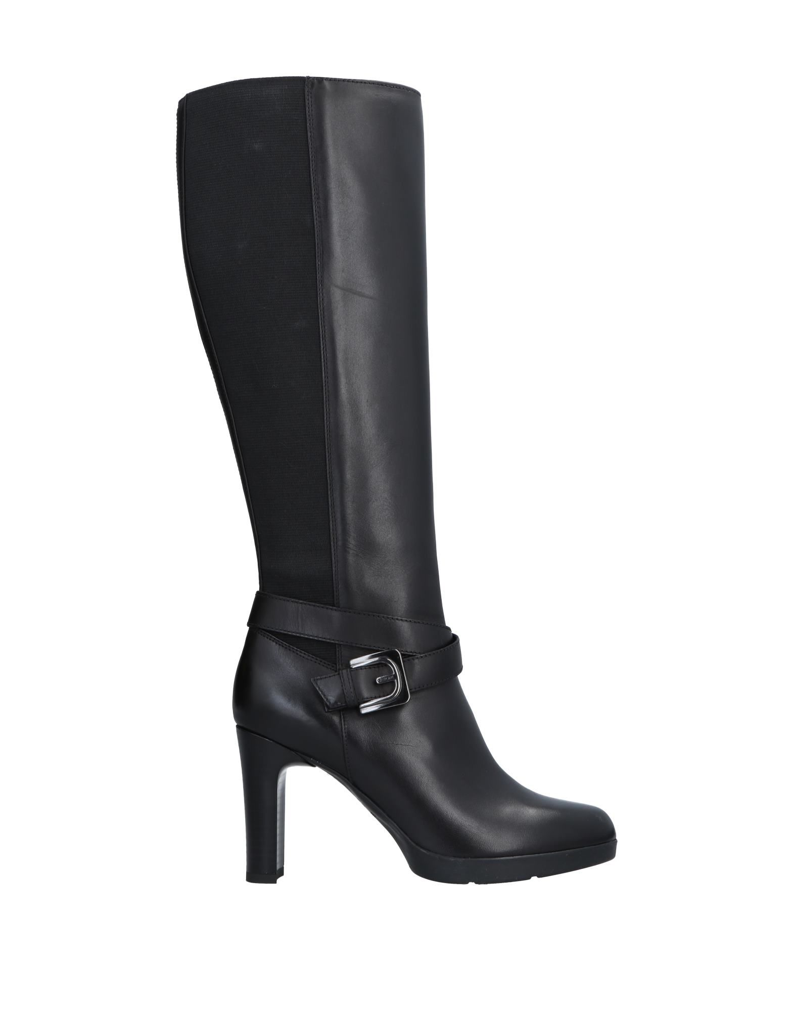 GEOX Buckled Knee-Length Boots in Black