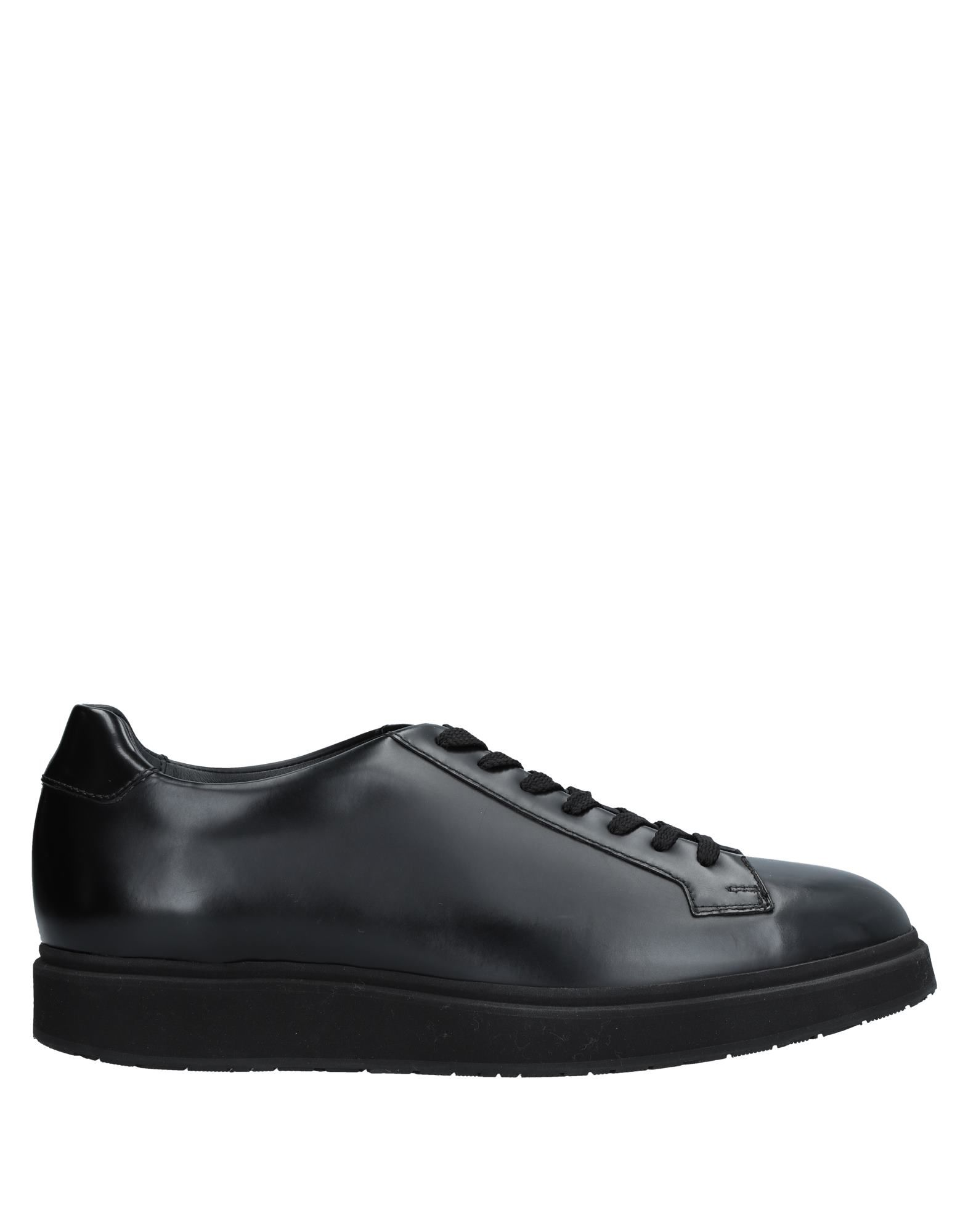 《送料無料》SANTONI メンズ スニーカー&テニスシューズ(ローカット) ブラック 6 革
