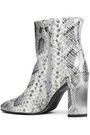 STUART WEITZMAN Vigor snake-effect leather ankle boots