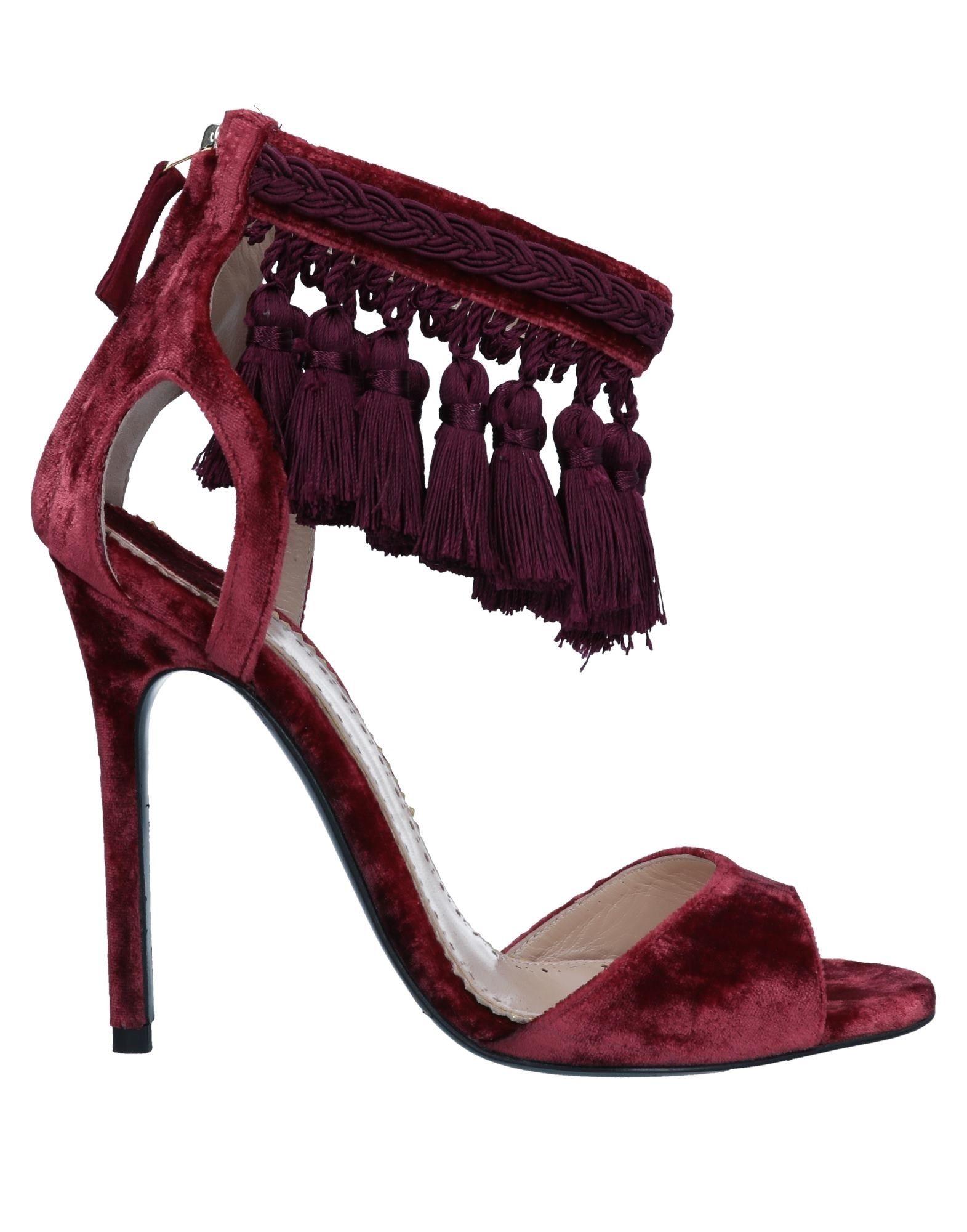《送料無料》LOUIS LEEMAN レディース サンダル 赤茶色 36 紡績繊維