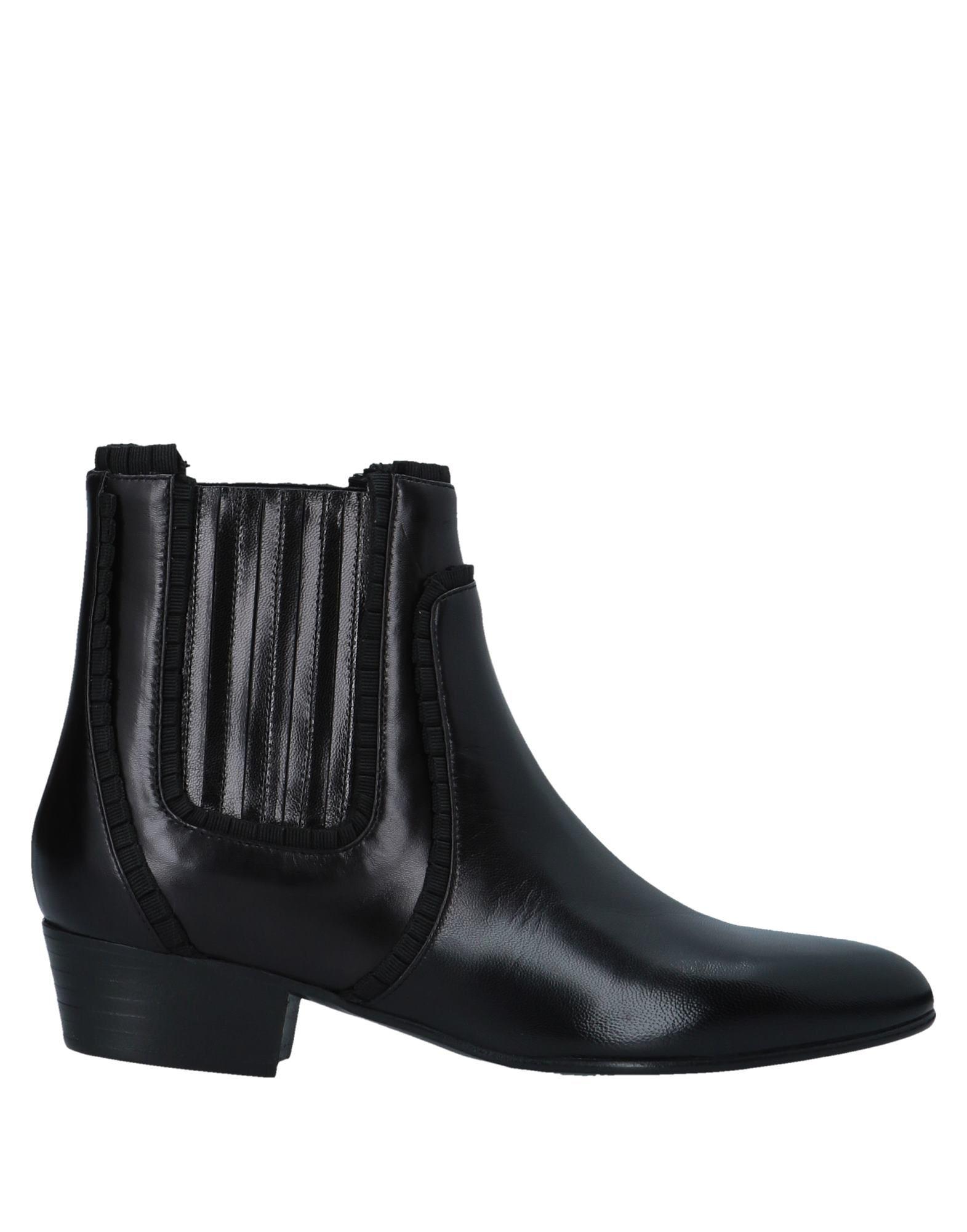 《送料無料》LOUIS LEEMAN レディース ショートブーツ ブラック 36.5 牛革(カーフ)