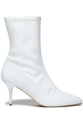 STUART WEITZMAN Clingy patent-leather ankle boots