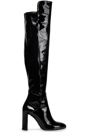 STUART WEITZMAN Patent-leather knee boots