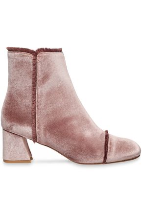 STUART WEITZMAN On The Fringe velvet ankle boots