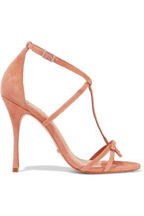 SCHUTZ Sabina bow-embellished suede sandals