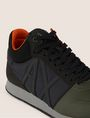 ARMANI EXCHANGE MIXED MEDIA LOGO HIGH-TOP SNEAKER Sneakers Man a