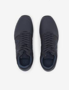 ARMANI EXCHANGE MIXED MEDIA LOGO HIGH-TOP SNEAKER Sneakers [*** pickupInStoreShippingNotGuaranteed_info ***] e
